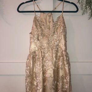Gold Altar'd State dress XS